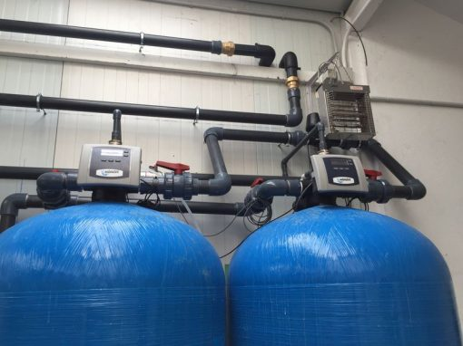 Descalcificador 1200 litros para fábrica