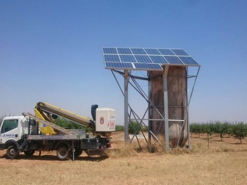 Instalación Completa Bombeo Solar Lorentz para Almendros
